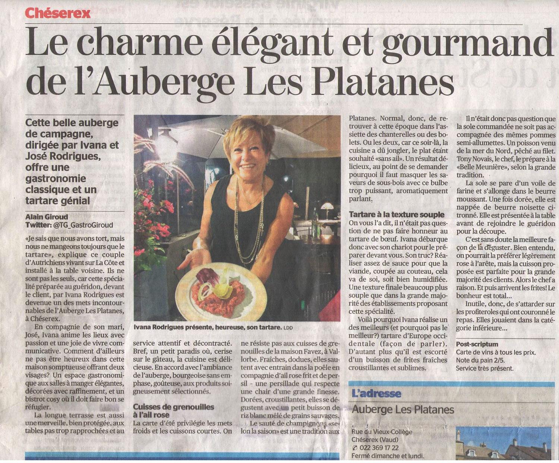 Le charme élégant et gourmand de l'Auberge Les Platanes
